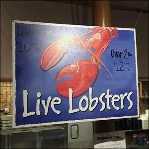 2-Pound Live Lobster Billboard Sign