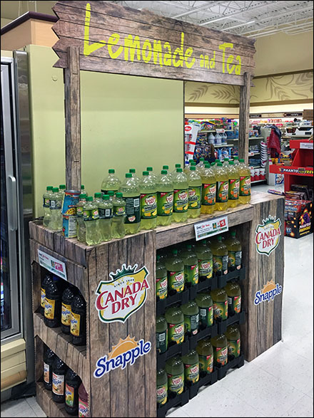 In-Store Rustic Lemonade-and-Tea Stand
