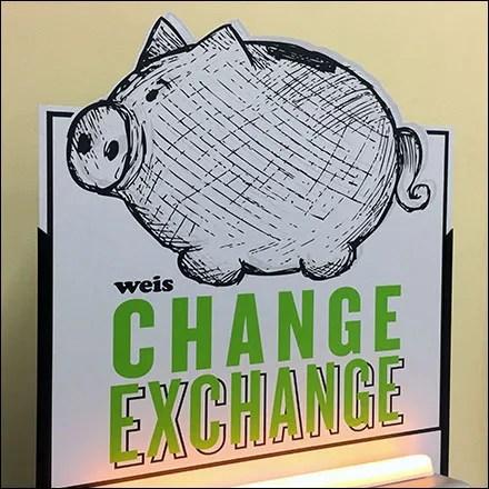""""""" Piggy-Bank Coin Exchange Kiosk """""""
