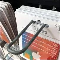 Apple Self-Leveling Gift-Card Loop-Hook