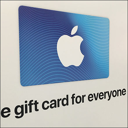 Apple Monochromatic Gift Card Selection