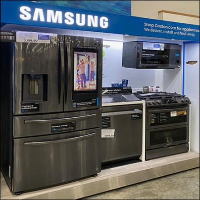 Samsung Kitchen Outfitting Display