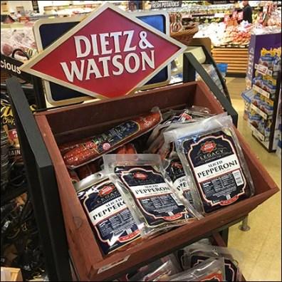 Dietz-&-Watson Branded Bulk-Bin Display