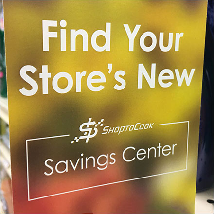 Carone's ShurSave Supermarket Fixtures - Saving-Center Kiosk Aisle-Invader