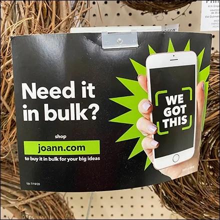Bump-Up Bulk Sales Sign Arm Promotion