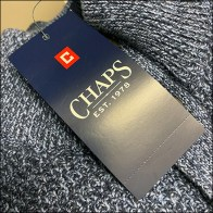 Kohls Chaps 3-Button Henley Shirt Display Logo Hang Tag Square