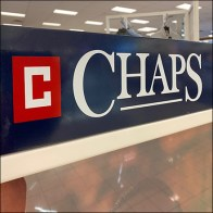 Chaps 3-Button Henley Shelf Display