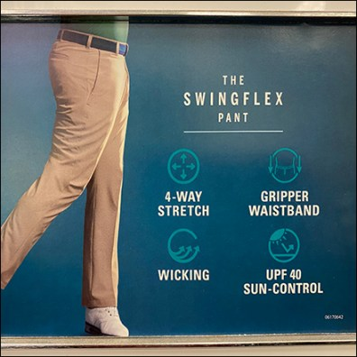 Izod Swing-Flex Golf Slacks Benefits