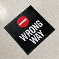 Wrong-Way Floor-Graphic Traffic Control