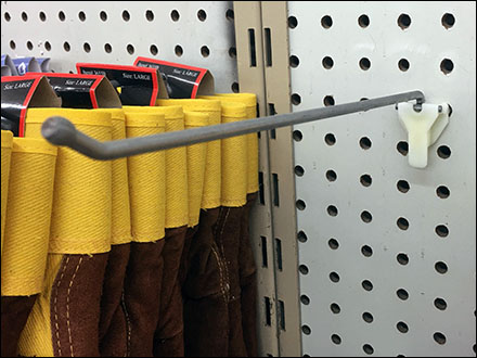 Work-Glove Straight-Entry Display Hooks