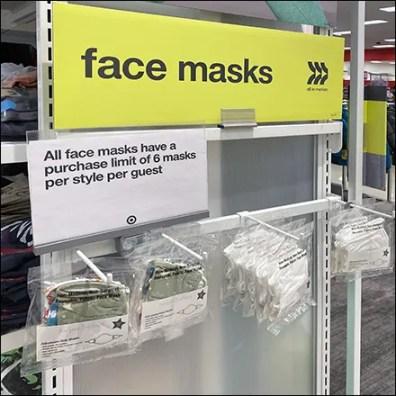 Children's Face Masks Display
