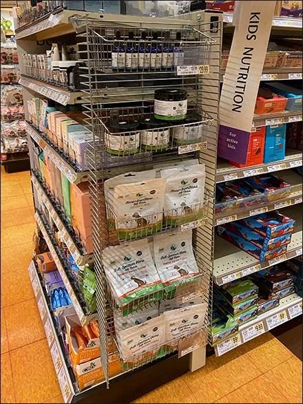 Hemp-CBD PowerWing Merchandising Display