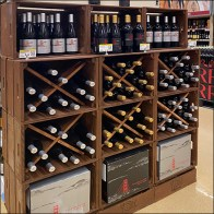 Upscale Wine-Cellar Staged Merchandising