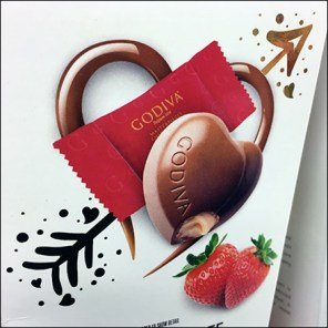 Godiva Valentine's Day Chocolate Lineup