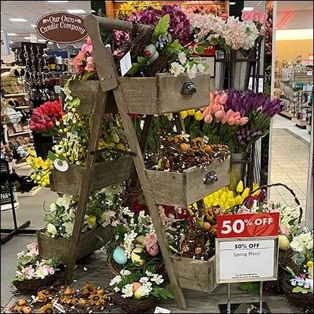 Floral Vintage Laddered Drawer DisplayFloral Vintage Laddered Drawer Display
