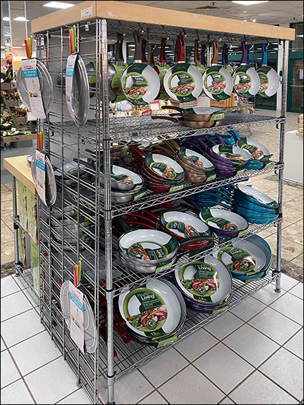 Healthy-Living Metro-Shelving Skillet Merchandising