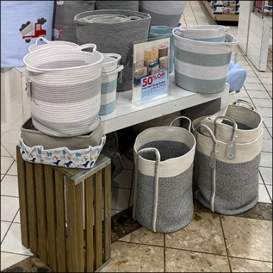 Soft-Sided Storage Basket Display
