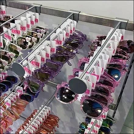 Novelty Sunglasses Bar-Mount Disk-Finial Hooks