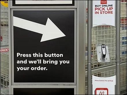 Michael's BOPIS Call Button Directional