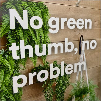 No-Green-Thumb Gondola Upright Sign