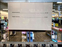 Downplayed Bottled Water Cost Strategy