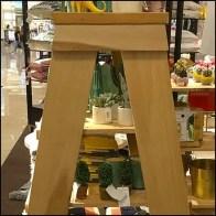 Nordstrom Wood Stepladder Display Rack