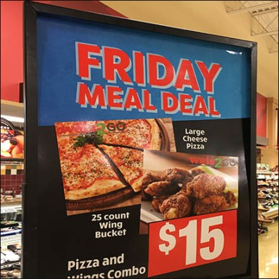 Towering Friday Meal Deal Display