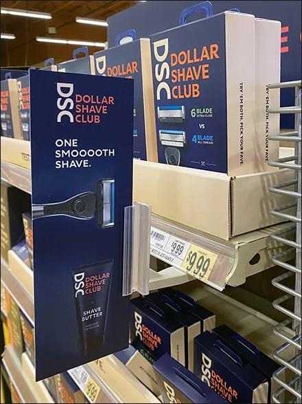 Dollar Shave Club Bottom-Mount Sign Holder