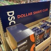 Wegmans Dollar Shave Club Endcap Display