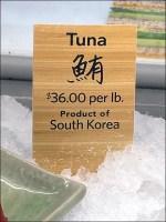 Sushi-Shop Iced Fresh-Caught Tuna