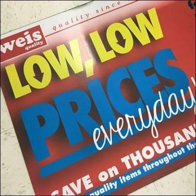 Everyday Low Prices Floor Graphic