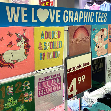 Children's Place We-Love-Graphic-Tees Display