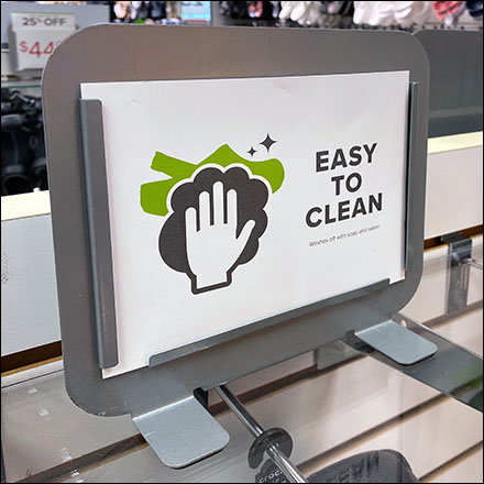 Crocs Easy-Clean Table-Top Sign