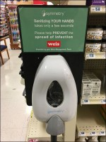 Floorstand Symmetry Hand-Sanitizer Station