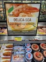 Delica-Sea Shrimp Seafood Sign