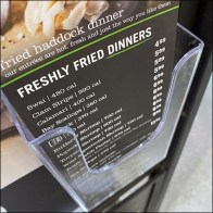 Freshly-Fried Haddock Dinner Flyer