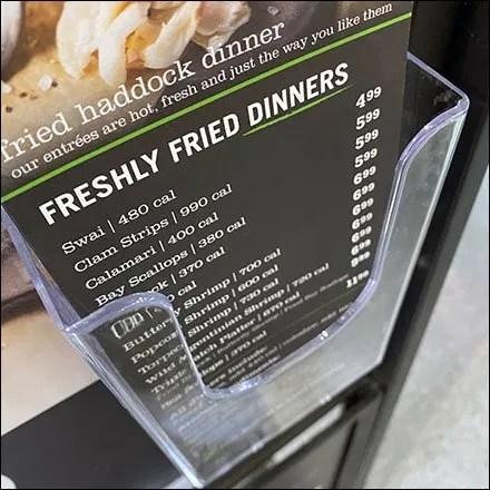 Freshly-Fried Haddock Dinner Flyer