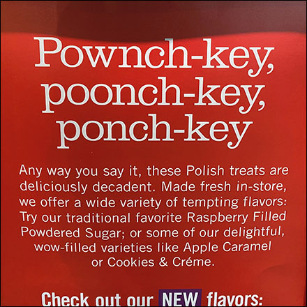 Polish Paczki Defined Promo Sign