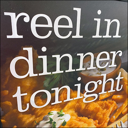 Reel-In-Dinner Seafood Floor Sign