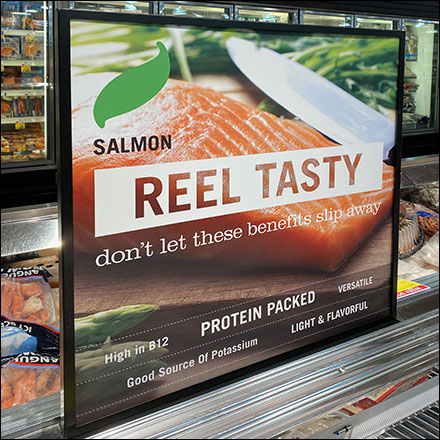 Reel-Tasty Salmon Seafood Sign