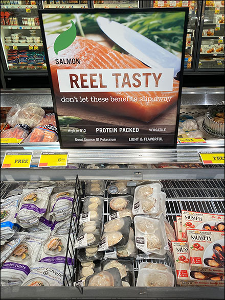 Reel-Tasty Salmon Seafood Sign