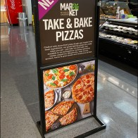 Take-And-Bake Pizza Floor-Standing Sign