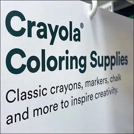 Crayola Gondola Upright Sign Arm