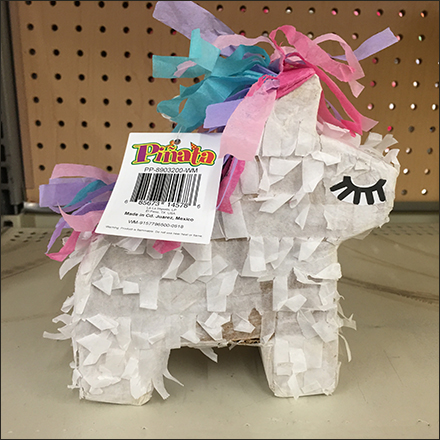 Miniature Piñata Country-of-Origin Label
