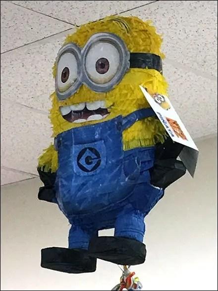 Minion Piñata Ceiling Hang Hero