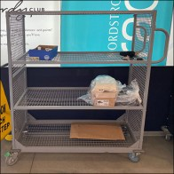 Nordstrom-Rack Open-Wire Transport Cart