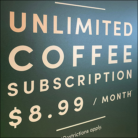 Panera Bread Unlimited Coffee Subscription Banner