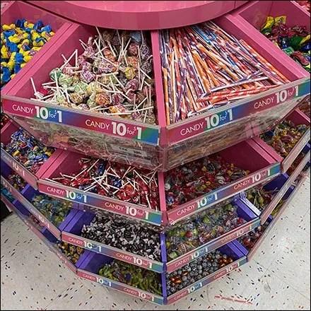 Candy Bulk-Bin Label Strip