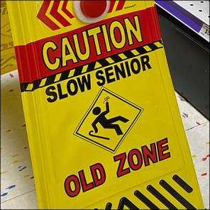 Old-Zone Senior-Citizen Warning Sign