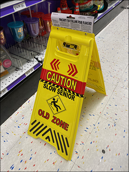 Old-Zone Senior-Citizen Warning Sign